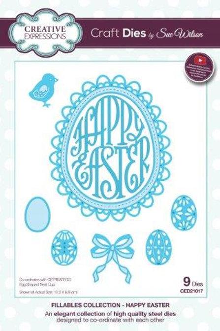 Sue Wilson - Happy Easter Egg Die