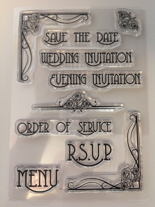 Clear Stamps -  Wedding text