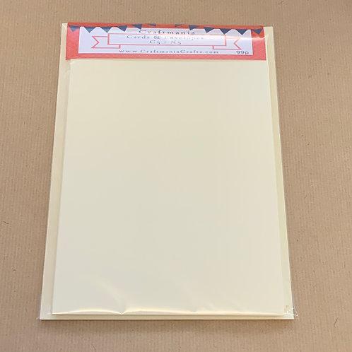 Cream - C5 - 5 x Cards & Envelopes