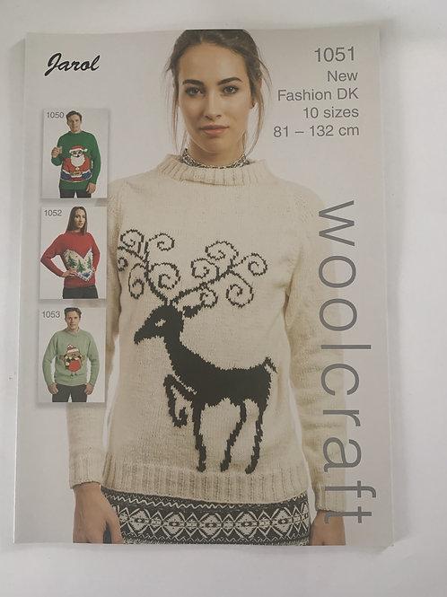 DK Ladies Christmas Sweater Pattern