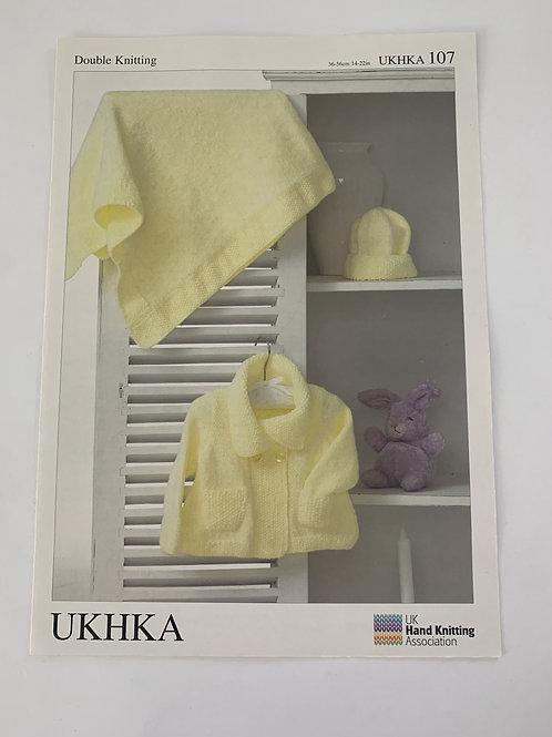 DK Baby Blanket, Scarf, Cushion & Hat Pattern