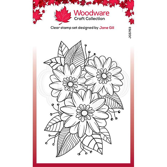 Passion Flower  - Clear Stamp -  Woodware