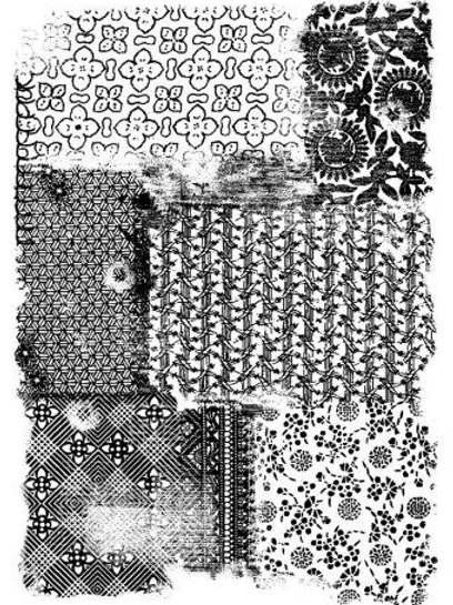 Patchwork clear stamp