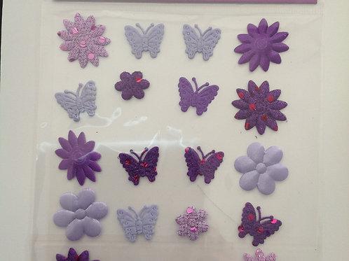 20 Fabric Self Adhesive Embellishments