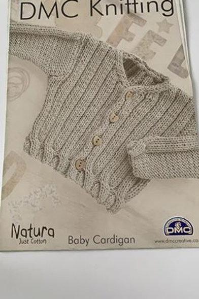 Baby DMC Cotton Cardigan Pattern