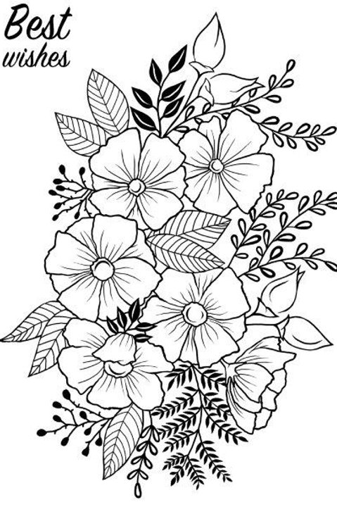 Flower - Clear Stamp