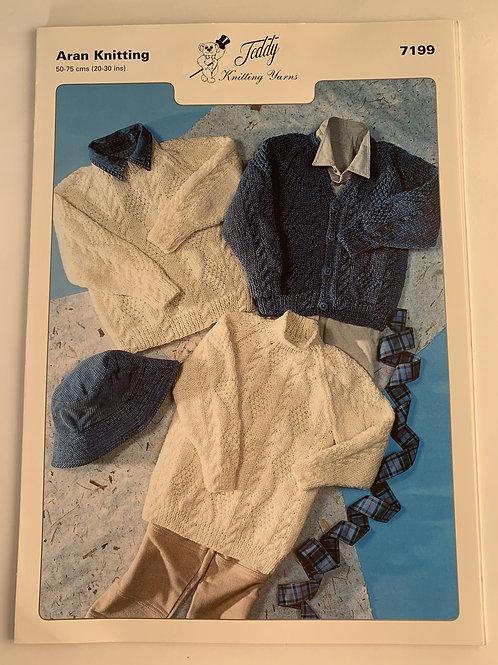Aran Children's  Sweater, Tunic & Cardigan Pattern
