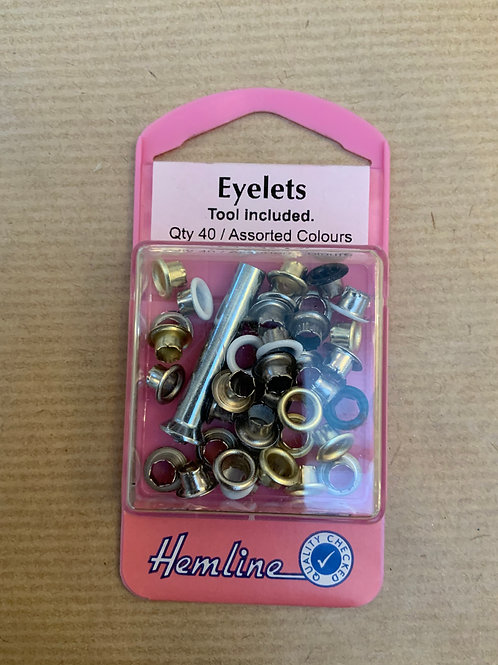 3mm eyelets - mixed colours - including setter