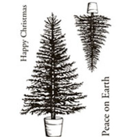 Christmas trees - Clear Stamp