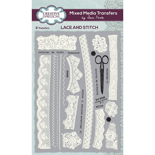 Lace and stitch - Mixed Media transfers*