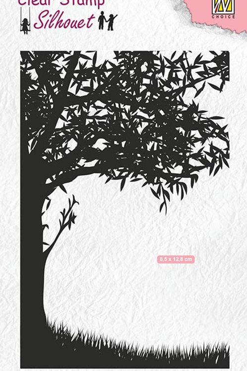 Tree scene stamp