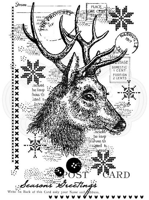 Christmas Stag - Clear Stamp