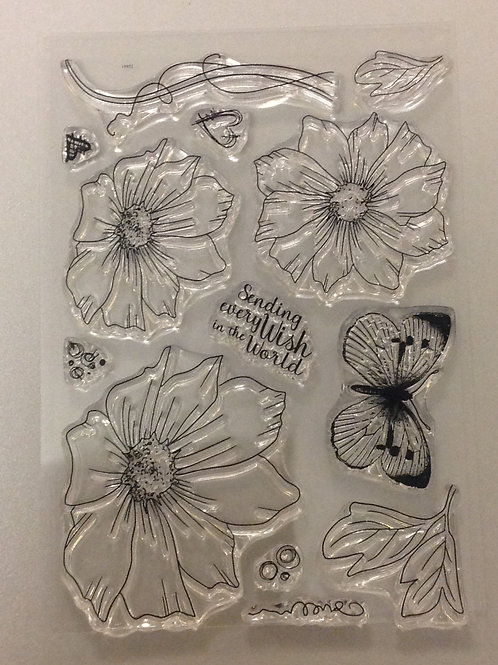 A6 Clear Stamp - Flower Set