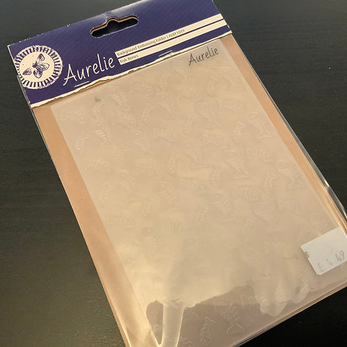 Embossing folder -A6 - Cat - Fishbone Background