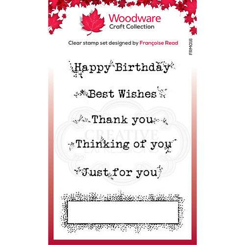 Boxed Greetings - Woodware Clear Stamp - 3.8x2.6""