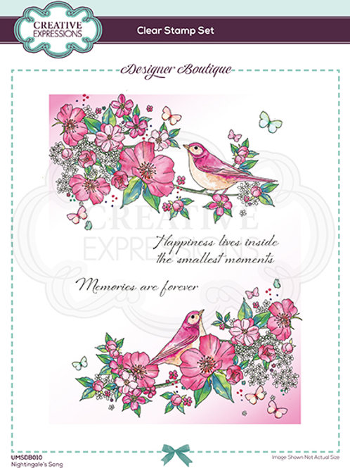Designer Boutique -A5 Clear Stamps - Nightingales song