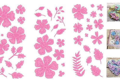 Bundle pack - Dawn Bibby Winter Florals Die Set