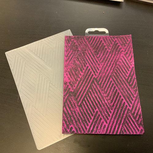 "Embossing folder - 5""x7"" - Chevrons"