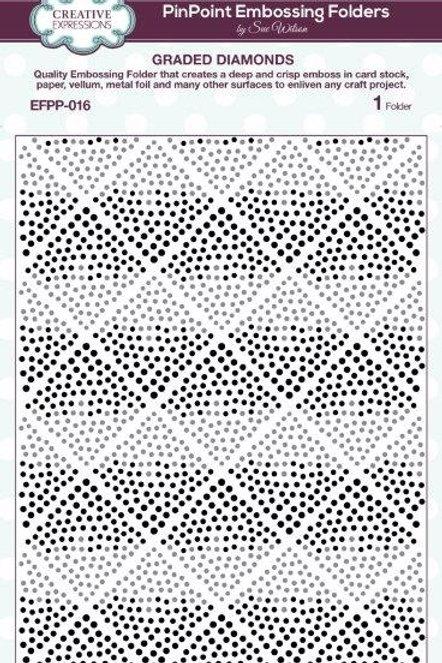 Graded Diamonds - Pin Point -  Embossing Folder