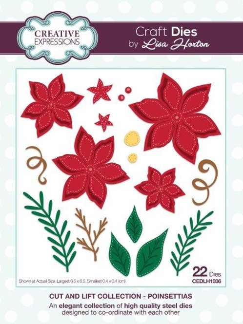 Lisa Horton Die  - Poinsettias