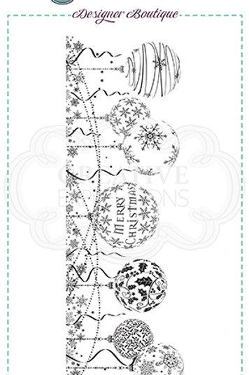 Designer Boutique - DL - Bauble Garland   - Rubber Mounted Stamp