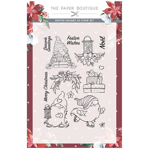 A5  Winter Gnomes Clear Stamps