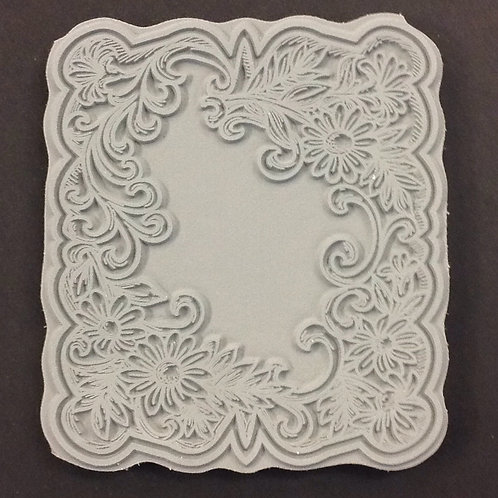 Floral - foam mounted rubber stamp
