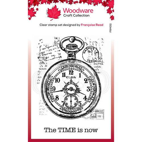 """Pocket Watch - Woodware Clear Stamp - 3.8x2.6"""""""