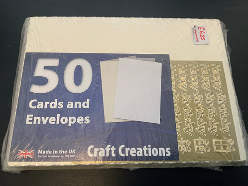 Cream - Hammer  -  C6 Cards & Envelopes - 50pk