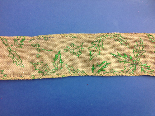 Hessian -  With Green Glitter- 63mm