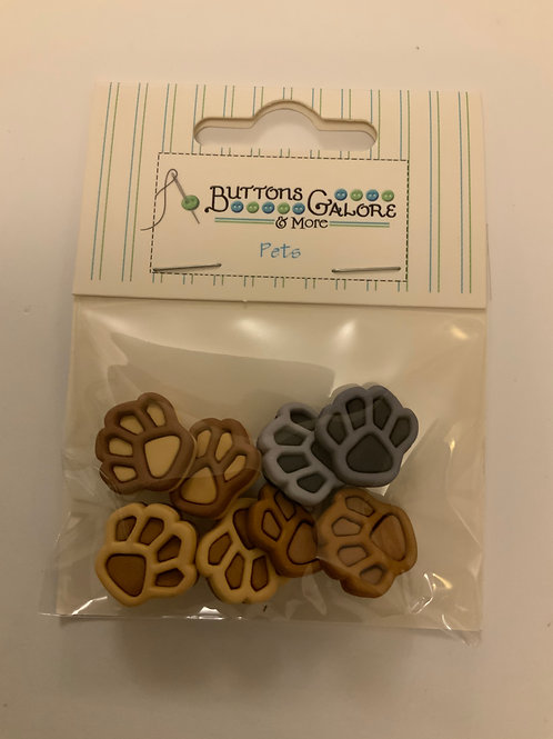 Paw Print Buttons