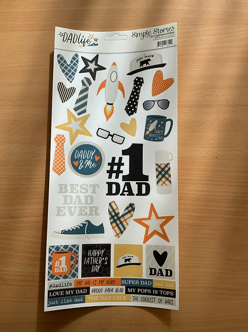 "Dad Life - Sticker Sheet - 6""x12"""