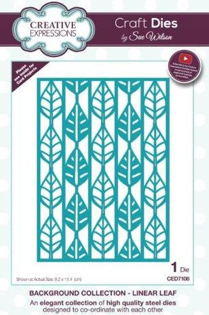 Sue Wilson -  Linear Leaf Background Die