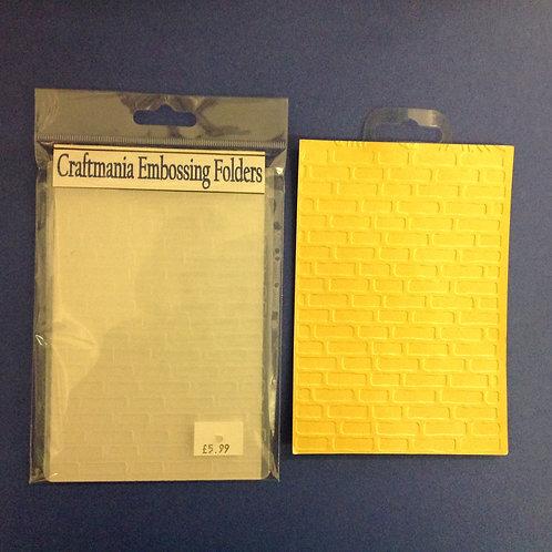 Embossing folder - A6 -Bricks