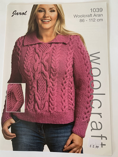 Aran Ladies Sweater Pattern