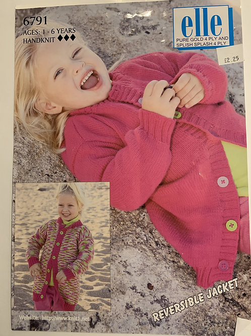 4ply Children's Reversible Jacket Pattern
