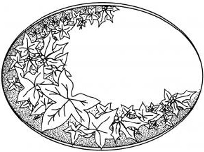 Pre-mounted Rubber Stamp ~ Holly & Ivy
