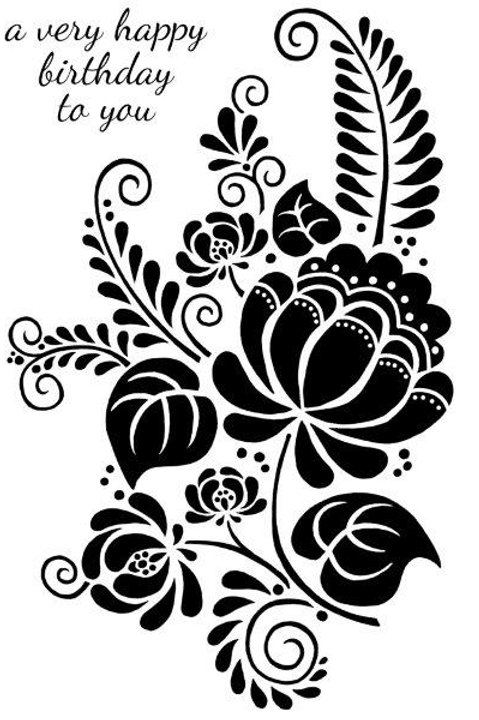 Woodware - Clear stamp - Pomegranate