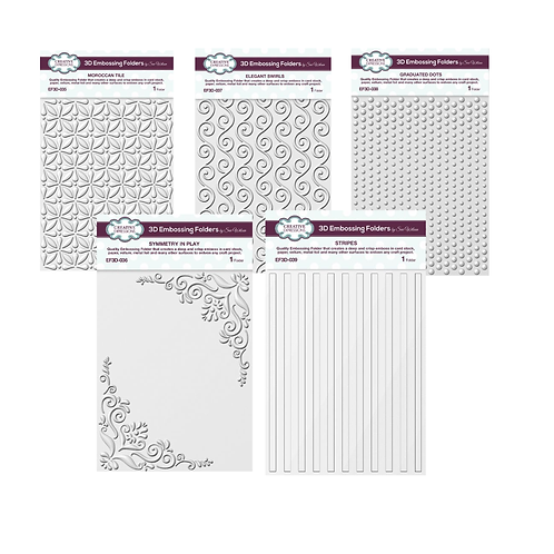 September - 3D Embossing Folder Bundle!