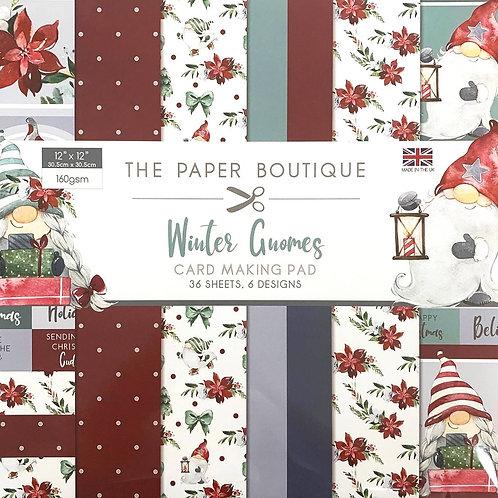 "12""x 12"" Winter Gnomes Paper Pad"