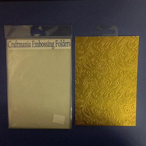 "Embossing folder - 5""x7"" -Swirls"
