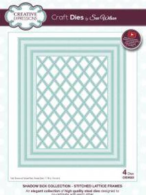 Shadow Boxes Stitched Lattice Frames - Craft Die