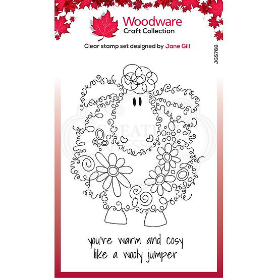 Pre-Order - Baalamb - Fuzzy Friends - Clear Stamp -  Woodware
