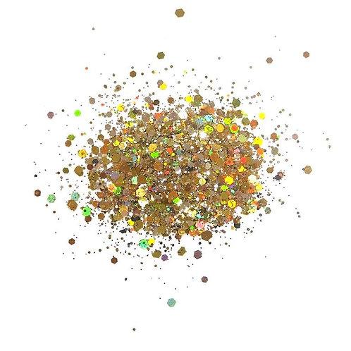 Holographic Glitterbits - Golden Haze