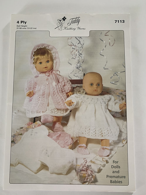 4ply Toy Clothes & Premature Babies Pattern