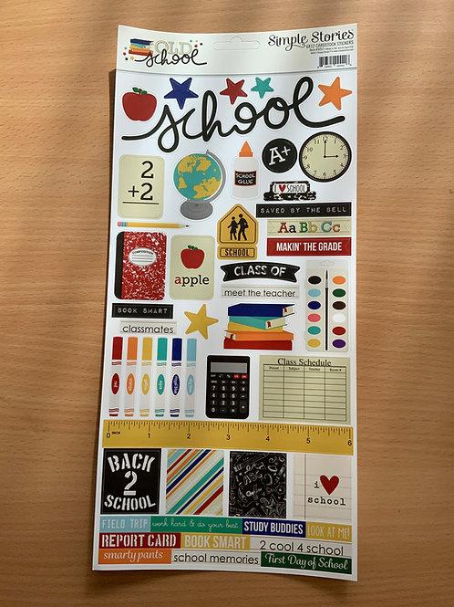 """Old School - Sticker Sheet - 6""""x12"""""""