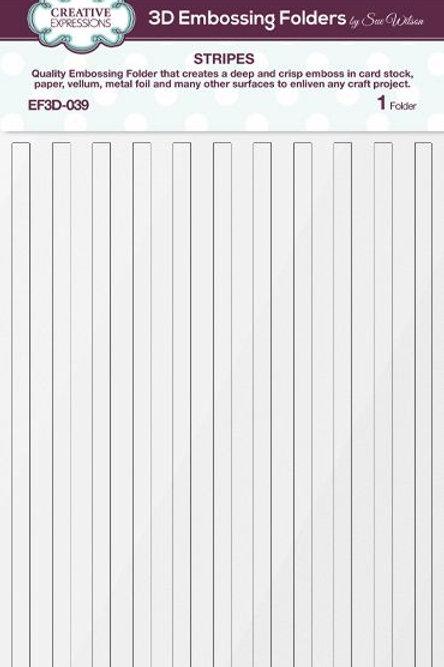 Stripes - 3D Embossing Folder