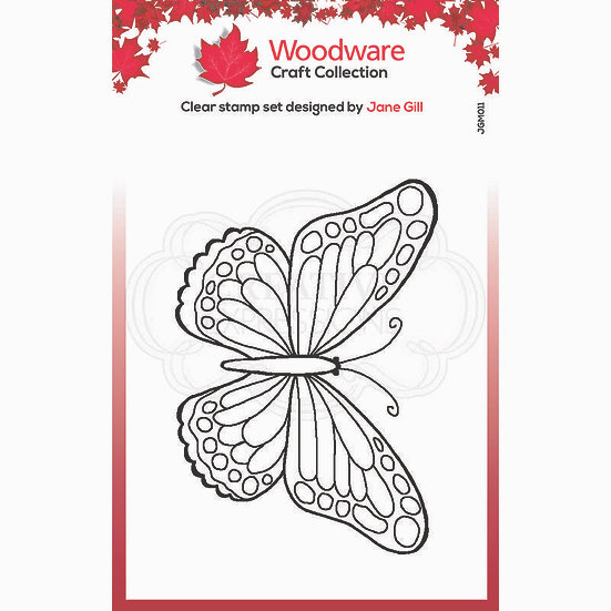 Marsh Fritillary Butterfly  - Clear Stamp -  Woodware