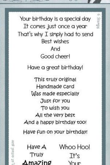 Birthday Verses - Classic