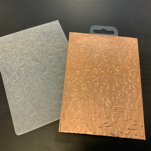Embossing folder -A6 - Leopard Print